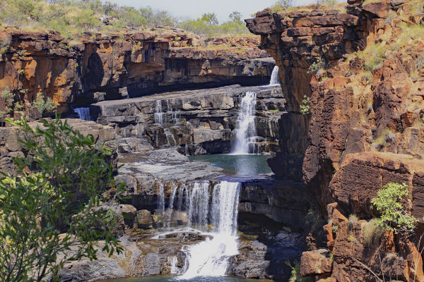 Accessed via the remote. iconic Gibb River Road, Mitchell Falls, known as Punamii-unpuu to the Wunambal aboriginal people, is an impressive sight