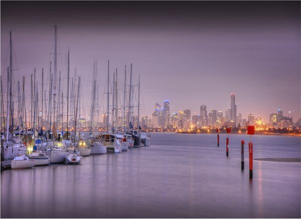 Melbourne city view, Victoria, Australia