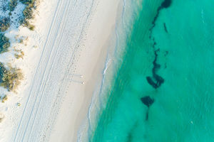 photographers/neal pritchard photography/aerial views coastal beach scene summer
