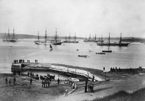 vintage/circa 1867 view sydney harbour new south wales