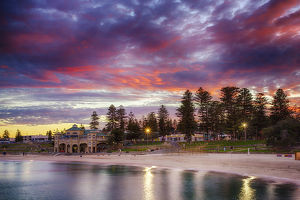 travel/western australia wa metropolitan views/cottesloe sunrise perth western australia
