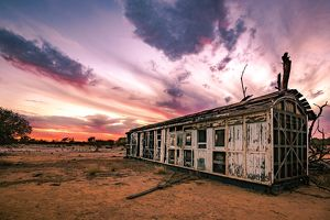 travel/viktor posnov travel photography/old trailer australian outback