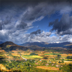 travel/southern lightscapes australia/view cardrona valley near queenstown south island