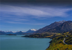 travel/southern lightscapes australia/view lake wakatipu road glenorchy near queenstown